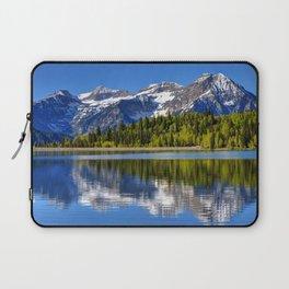 Mt. Timpanogos Reflected In Silver Flat Reservoir - Utah Laptop Sleeve