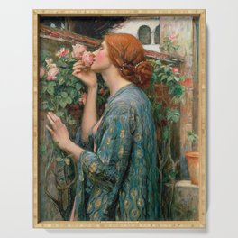 John William Waterhouse The Soul Of The Rose Serving Tray