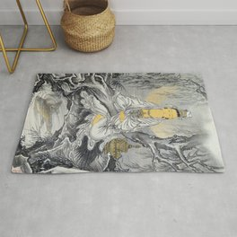 Kawanabe Kyosai - White-robed Kannon - Digital Remastered Edition Rug