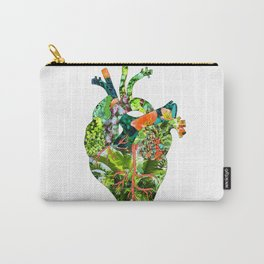 Botanical Heart Carry-All Pouch
