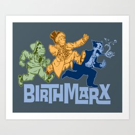 BirthMarx 6 Color Art Print