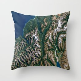 Southern Alps - New Zealand Throw Pillow