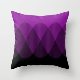 Purple to Black Ombre Signals 2 Throw Pillow