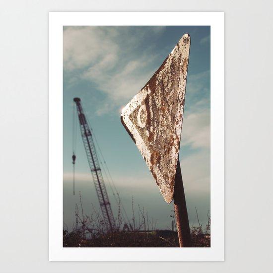 i give way to cranes, do you?.. Art Print
