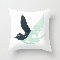 Bipolar Bird Throw Pillow
