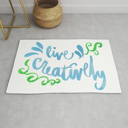 Live Creatively Rug