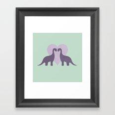 Prehistoric Love - sans text Framed Art Print