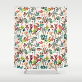 Jungle Jaguars Shower Curtain