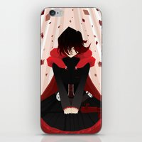 rwby iPhone & iPod Skins featuring Red by Auraya Frost