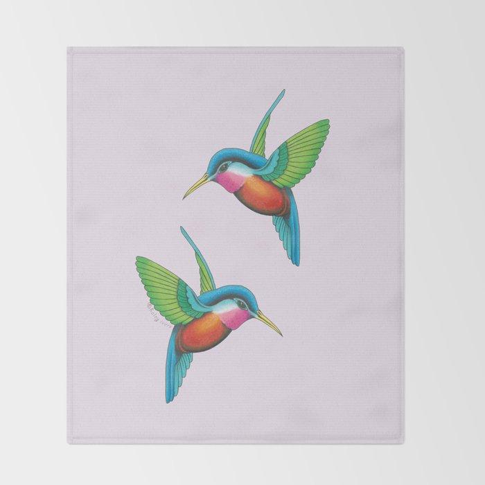 Hummingbirds  Throw Blanket