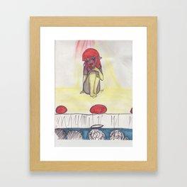 Stage Fright Framed Art Print