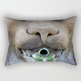 Lion Fountain Rectangular Pillow