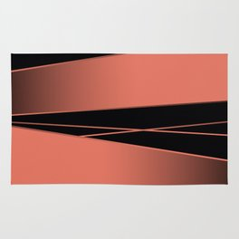 Black and red. Rug