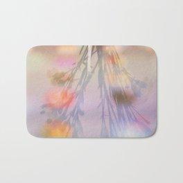 Rainbow Carnations Bath Mat