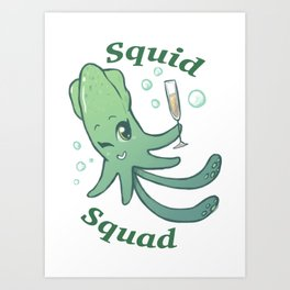 Squid Squad Art Print