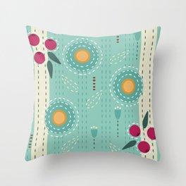 Sashiko Meadow Throw Pillow