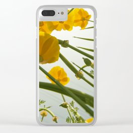 Looking Through Yellow Daisies to the Sky Clear iPhone Case