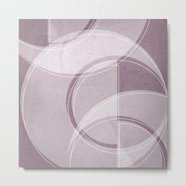 Where the Circles and Semi-Circles Meet in Musk Mauve Metal Print