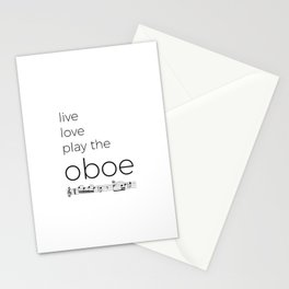 Live, love, play the oboe Stationery Cards