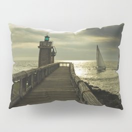Lighthouse and sailboat Pillow Sham