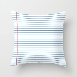 Lined Paper Throw Pillow