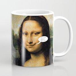 Smirking Mona Lisa Coffee Mug