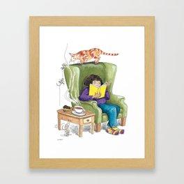 Suspense Reader Framed Art Print
