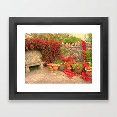 The Terracotta Garden. Framed Art Print