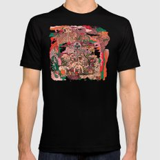 Village of Forest MEDIUM Black Mens Fitted Tee