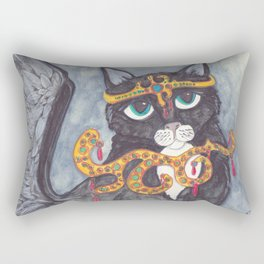 Tuxedo Cat Angel art Rectangular Pillow