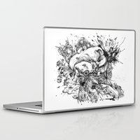 panic at the disco Laptop & iPad Skins featuring panic by Maethawee Chiraphong