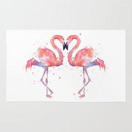 Pink Flamingo Love Two Flamingos Rug