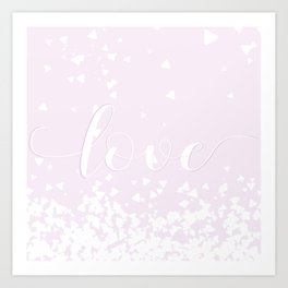 Delicate Love Rose Pink Glitter Design Art Print