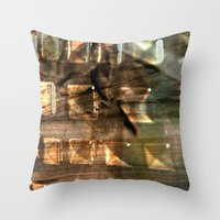 gem Throw Pillows featuring Gem by Allison Motola