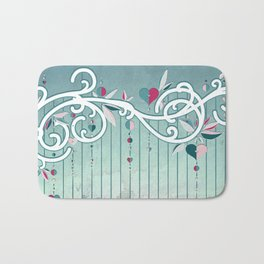 Heart Candy Raincloud Bath Mat