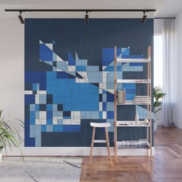 the blue dog Wall Mural