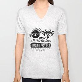 All Inclusive Resort t-shirt in white Unisex V-Neck