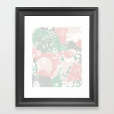 Alexei - abstract minimal modern painting splash dots stripes painterly art Framed Art Print
