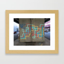 arte de tuberías coloridas Framed Art Print
