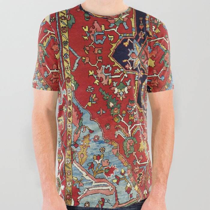 Heriz  Antique Persian Rug Print All Over Graphic Tee