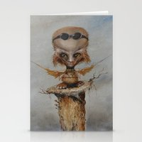 leonardo Stationery Cards featuring Leonardo by Ed Schaap
