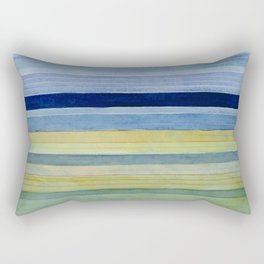 Colorbands Daylight Blue and Yellow Rectangular Pillow