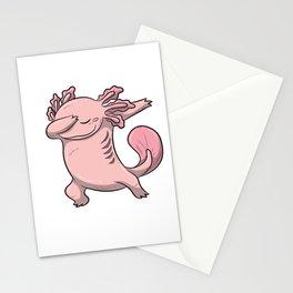 Dabbing Axolotl Lurch Newt Salamander Comic Kawaii Design Stationery Cards