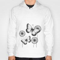 butterflies Hoodies featuring Butterflies by LouJah