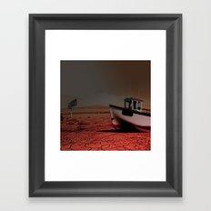 Deseert Boat Framed Art Print