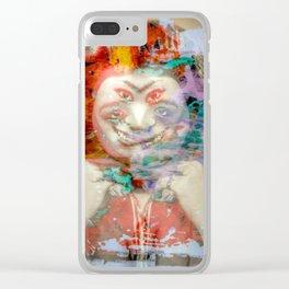 L. S. DEBRA Clear iPhone Case
