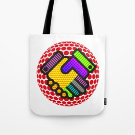 Friendship is Freedom - Dots Tote Bag
