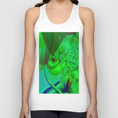 Abstract Green Algae Unisex Tank Top