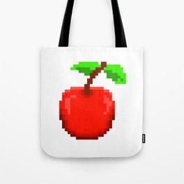 8-Bit Pixel Art Cherry Retro Video Game Design Tote Bag