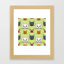 Various colored cats Framed Art Print